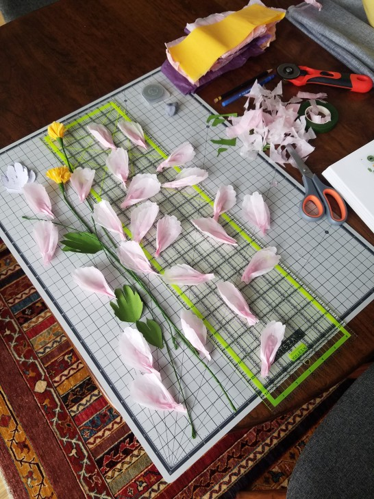 Hand cut petals
